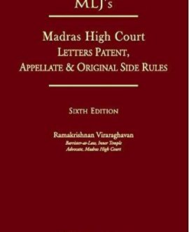 MLJs Madras High Court Letters Patent, Appellate & Original Side Rules