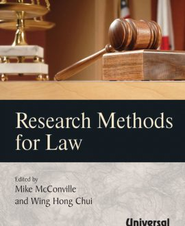 Research Methods for Law, (First Indian Reprint),