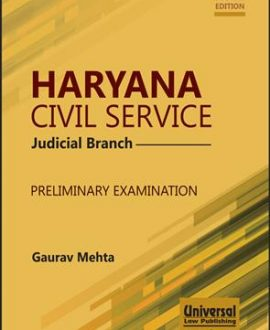 Haryana Civil Service (Judicial Branch) Preliminary Examination