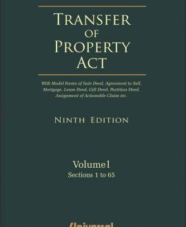 Transfer of Property Act - With Model Forms of Sale Deed, Agreement to Sell, Mortgage, Lease Deed, Gift Deed, Partition Deed, Assignment of Actionable Claim etc., (2 Vol.)
