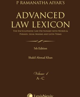 Advanced Law LexiconThe Encyclopaedic LawDictionary with Legal Maxims, Latin Terms, Words & Phrases (4 Vol.)