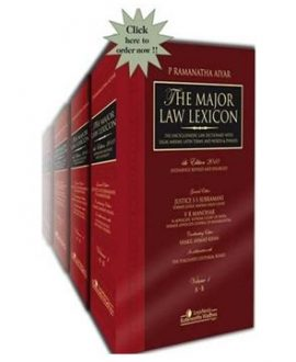 The Major Law Lexicon The Encyclopaedic LawDictionary with Legal Maxims, Latin Terms and Words & Phrases (6 Vol.)