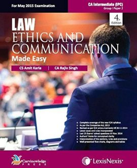 Law, Ethics and Communication-Made Easy