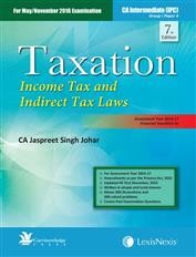 Taxation  Income Tax and Indirect Tax Laws