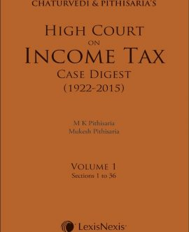 High Court on Income Tax Case Digest (1922-2015) (4 Vol.)