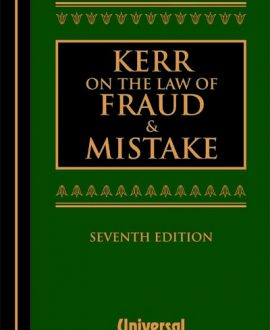 on the Law of Fraud and Mistake (Fifth Indian Reprint)