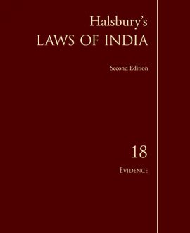 Halsbury's Laws of India-Evidence; Vol 18