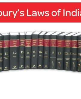 Halsbury's Laws of India-Competition Law & Trade Practices, Conflict of Laws, Courts; Vol 10