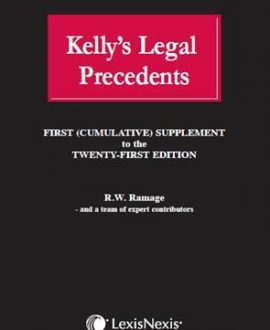 Legal Precedents (First (Cumulative) Supplement to the 21st Edition 2015)