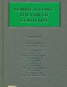 Borrie & Lowe The Law of Contempt