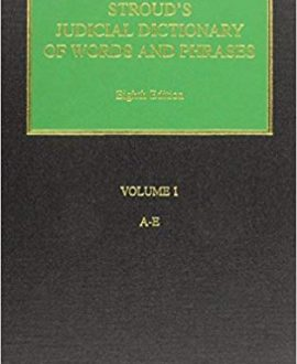 Stroud's Judicial Dictionary of Words and Phrases (3 Vol.)