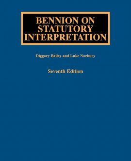 Bennion on Statutory Interpretation