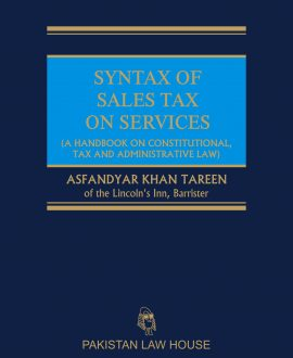 Syntax of Sales Tax on Services
