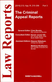 Criminal Appeal Reports