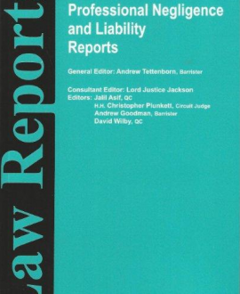 Professional Negligence and Liability Reports
