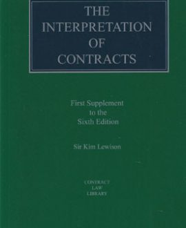 Interpretation of Contracts, The