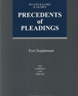 Bullen & Leake & Jacob's Precedents of Pleadings