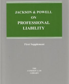 Jackson and Powell on Professional Liability