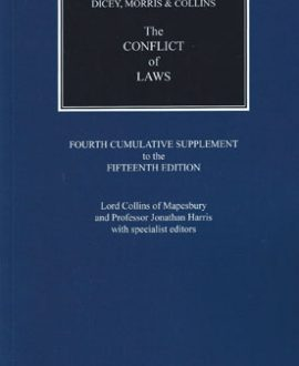 Dicey, Morris & Collins on the Conflict of Laws