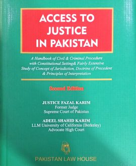 Access to Justice in Pakistan