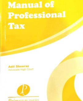 Manual of Professional Tax