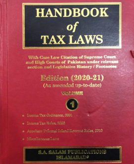 Handbook of Tax Laws 02 vols set