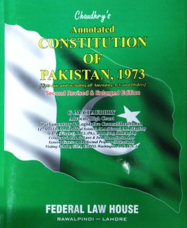 Chaudhry's Annotated Constitution of Pakistan,1973