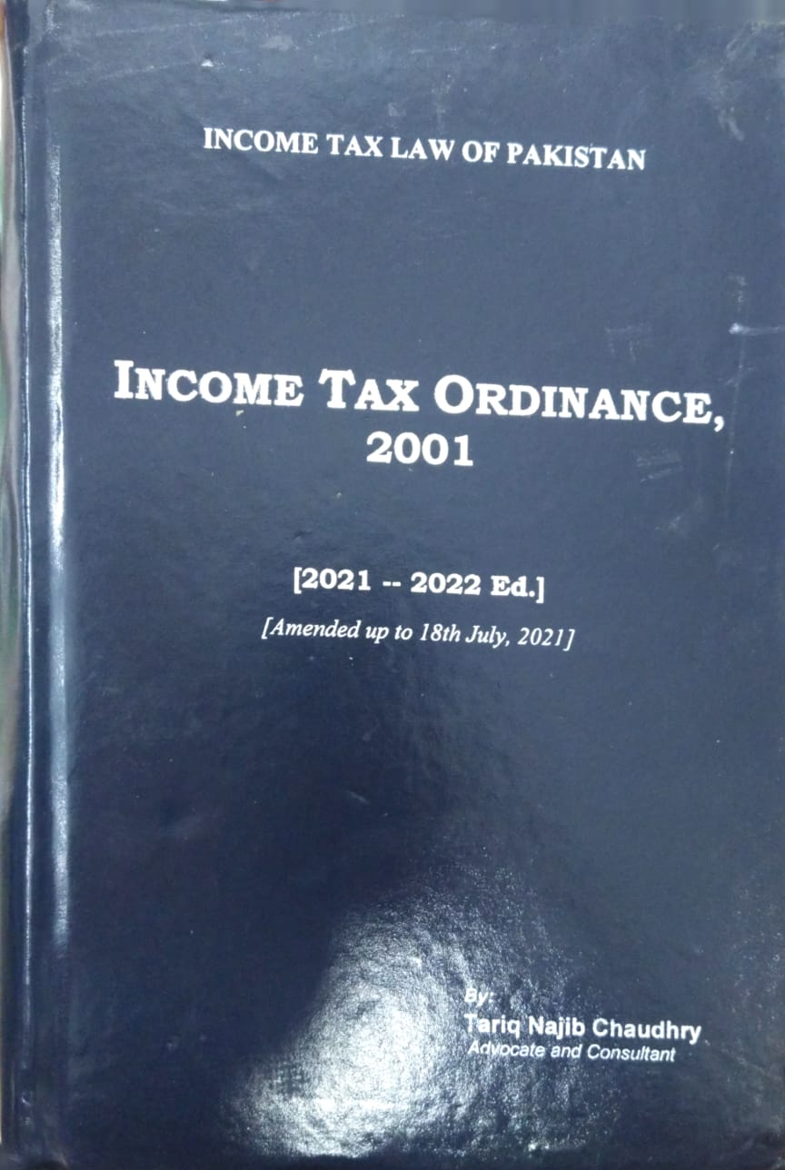 Income Tax Ordinance,2001 (2021-2022) Amended Upto 18th July, 2021